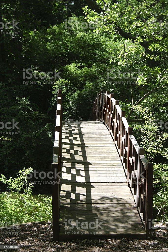 Empty Footbridge royalty-free stock photo