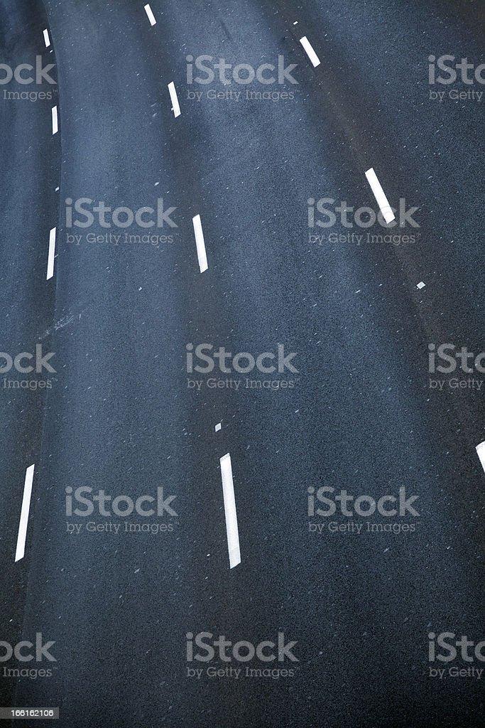 Empty Four Lane Highway royalty-free stock photo