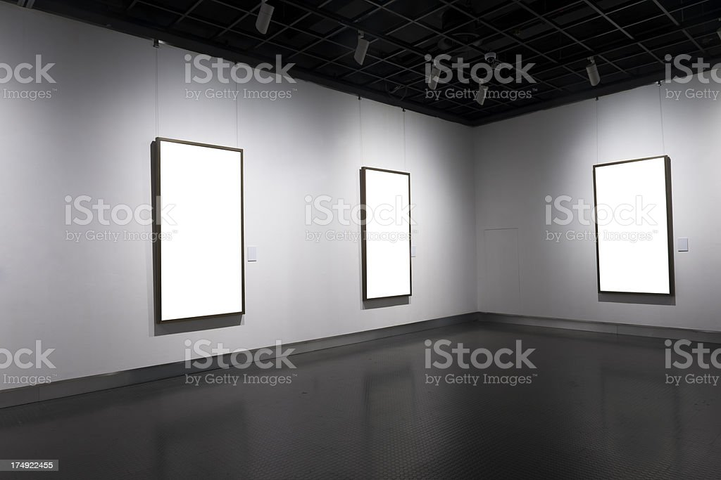 empty frame at the museum royalty-free stock photo