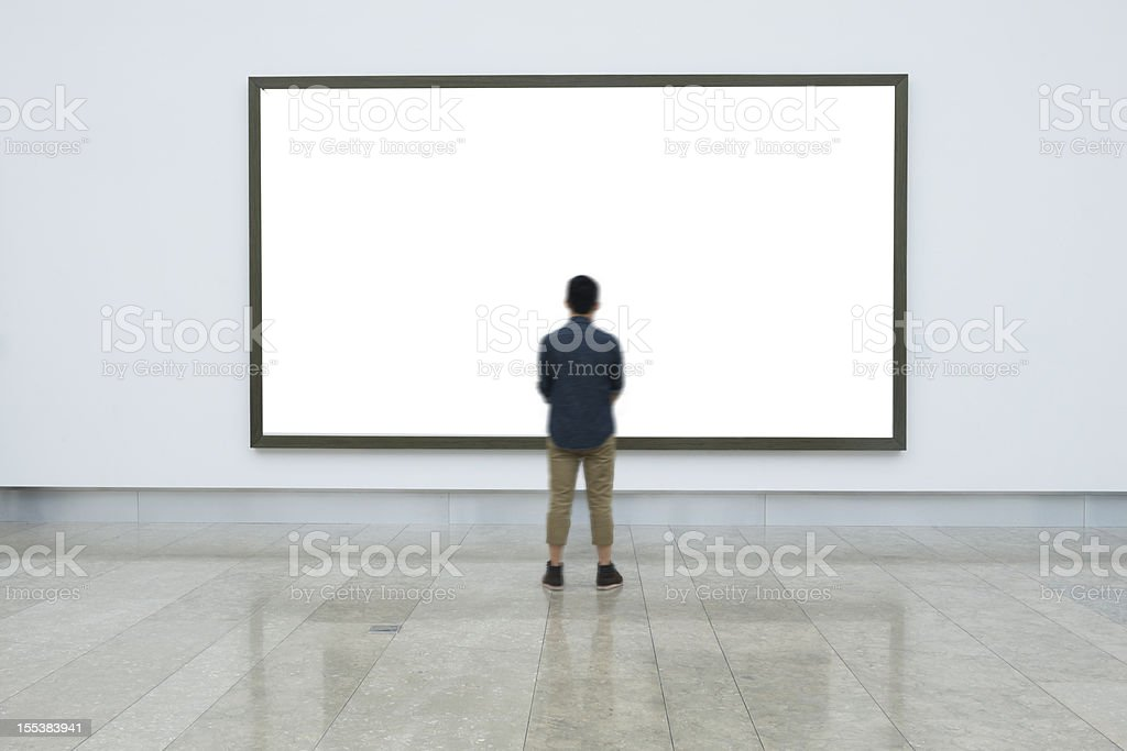 empty frame in art museum stock photo
