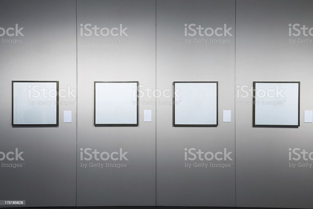 empty frame in art museum royalty-free stock photo