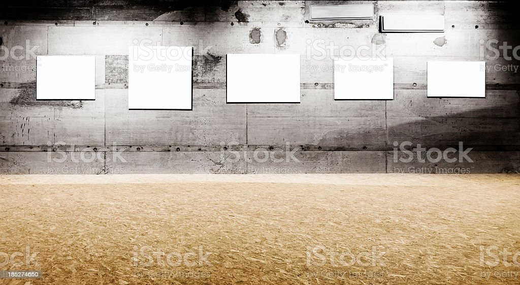 Empty frame on wall. Exhibition. royalty-free stock photo