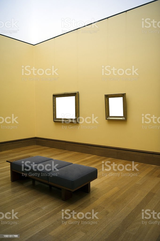 Empty frame on wall royalty-free stock photo