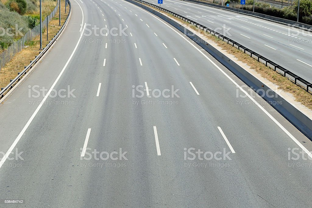 empty freeway stock photo