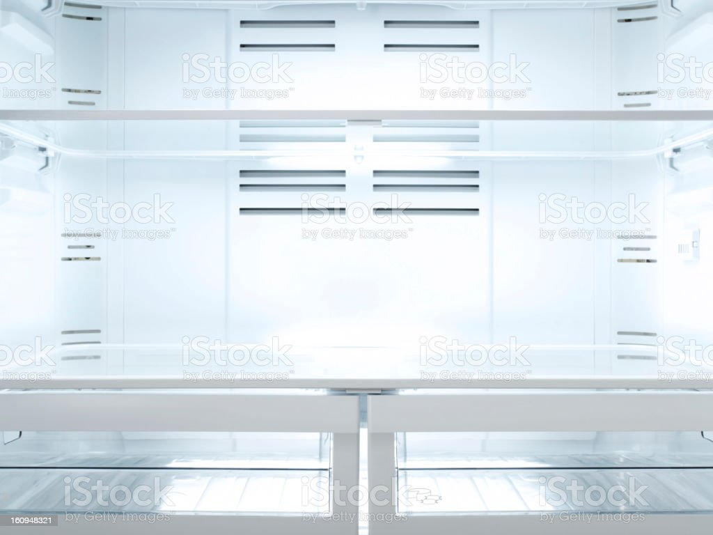 Empty Fridge, Inside stock photo