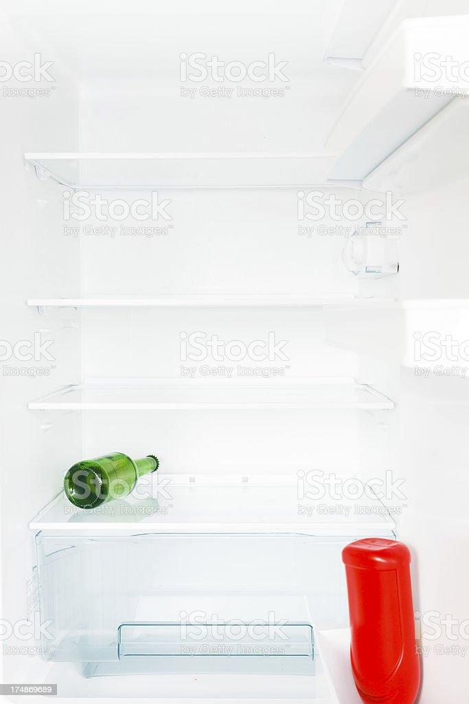 empty fridge royalty-free stock photo
