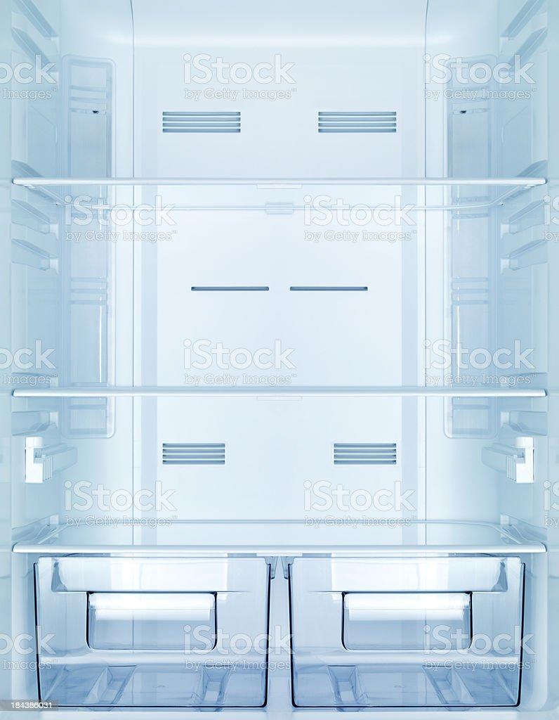 Empty fridge stock photo