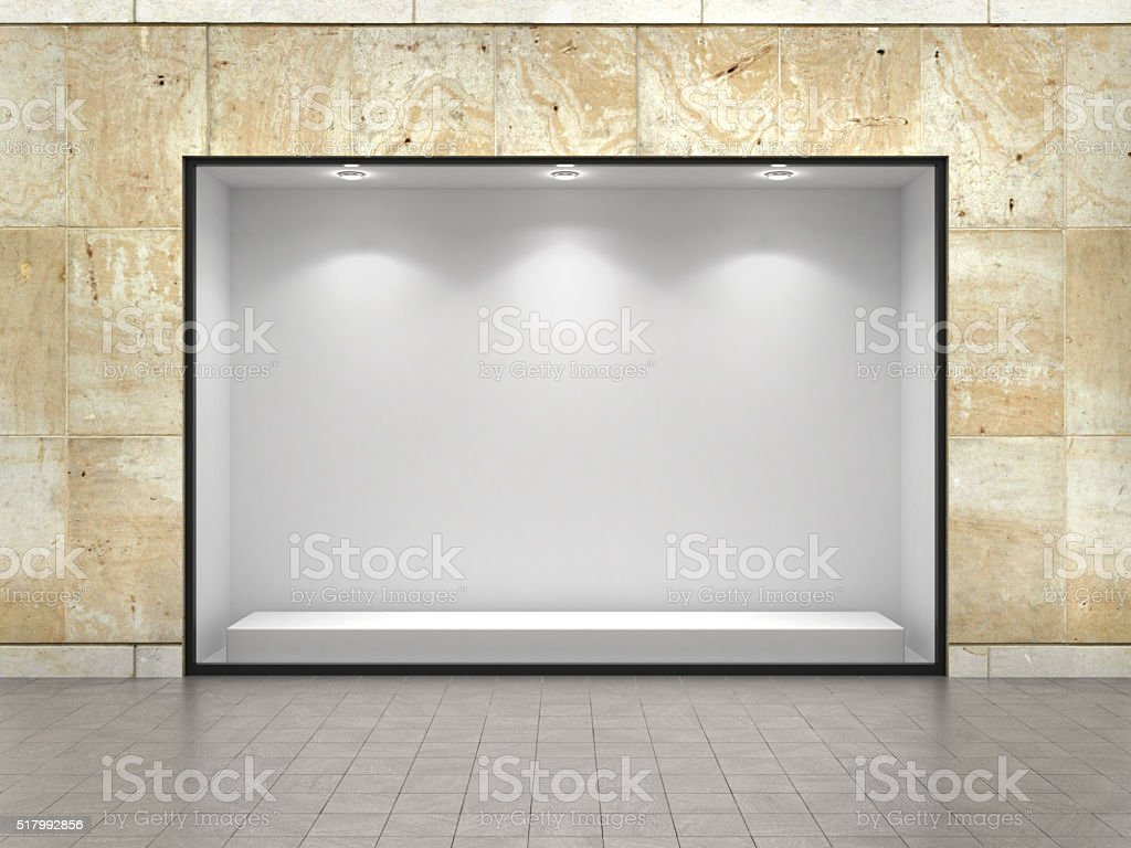 Empty ftorefront of shop. stock photo