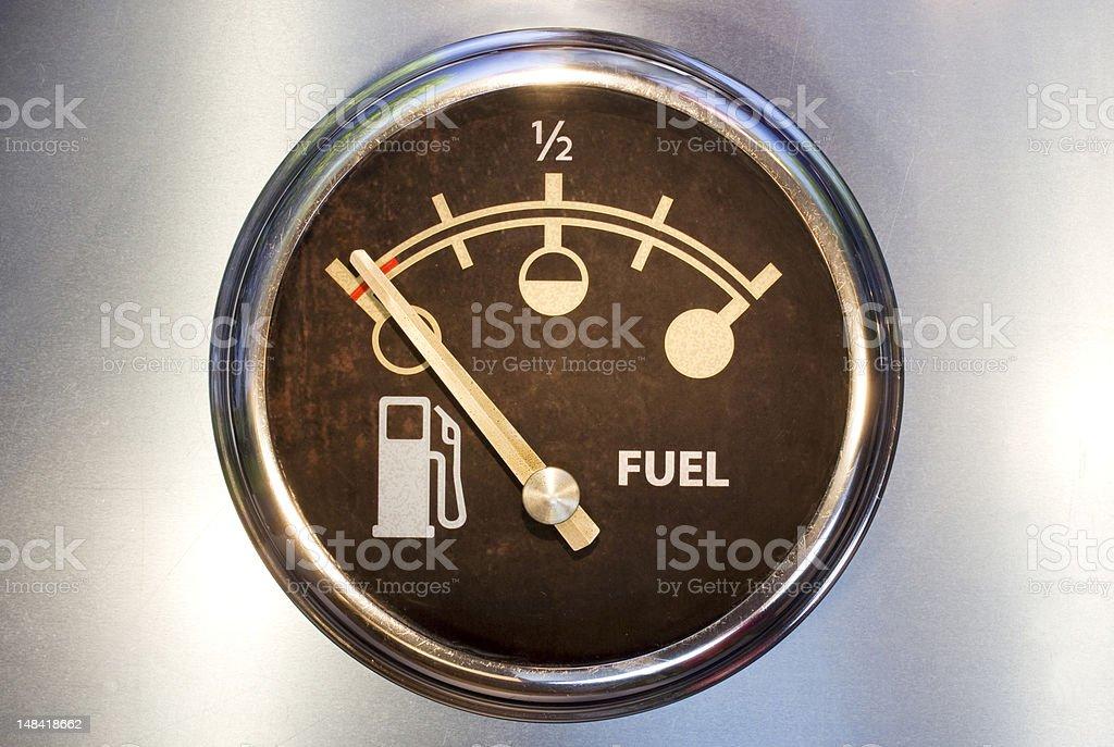 Vide de carburant photo libre de droits