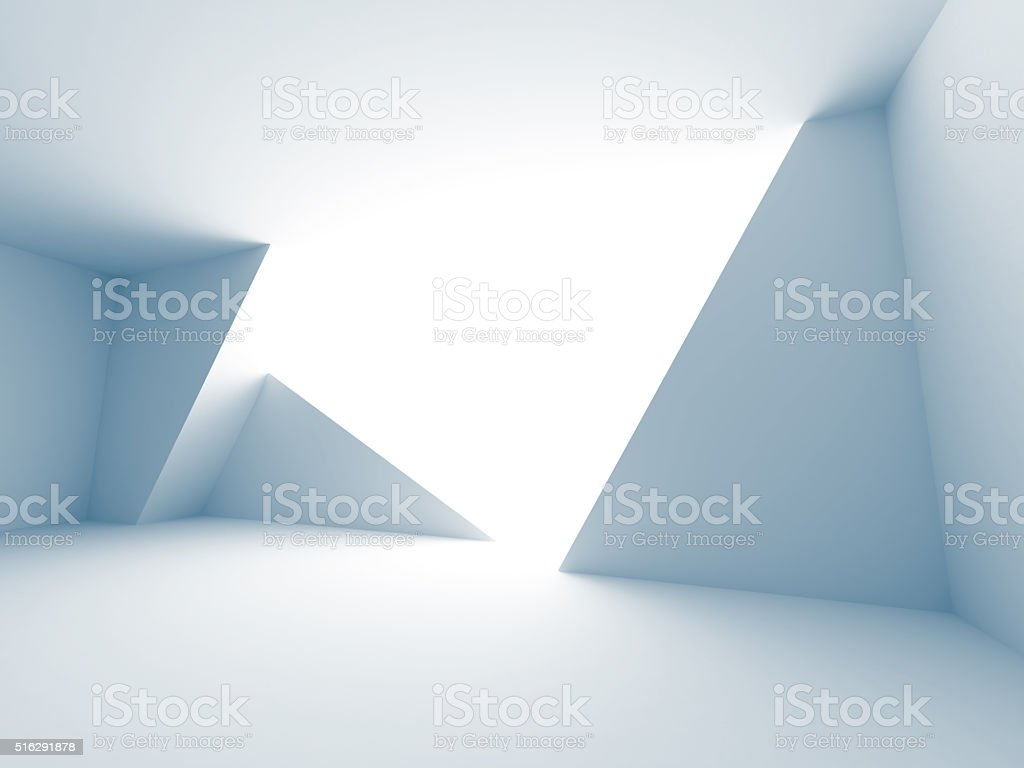 Empty Futuristic Room Architecture Background stock photo