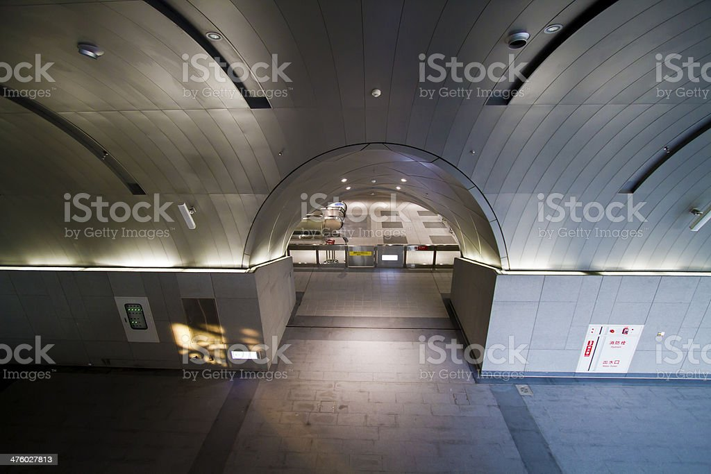 empty gallery in station stock photo