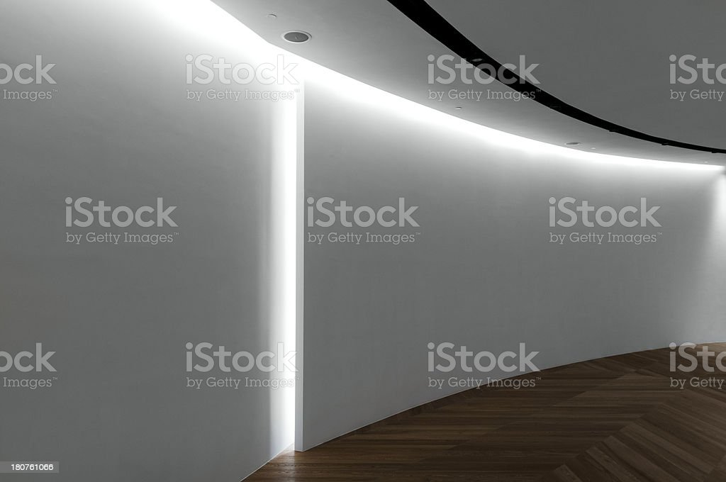 Empty gallery space royalty-free stock photo