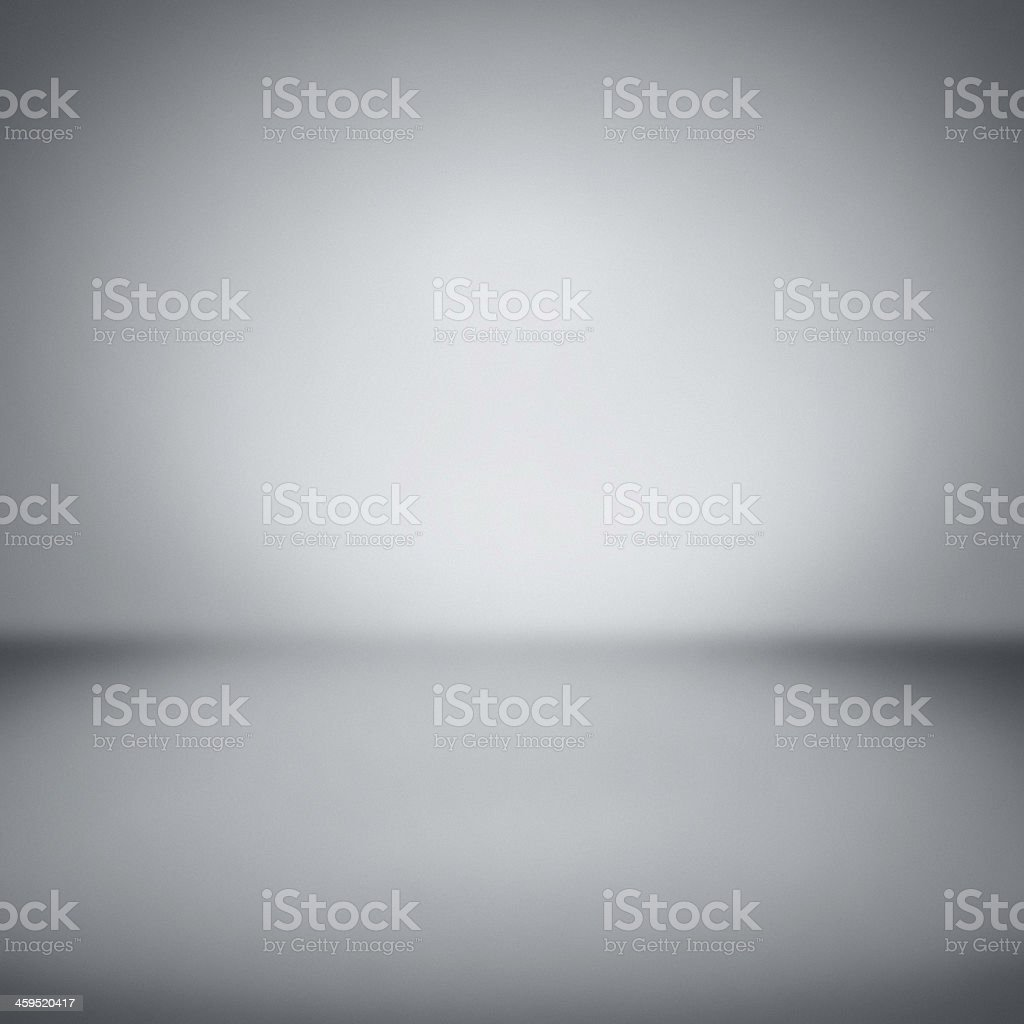 Empty gallery wall with lights stock photo