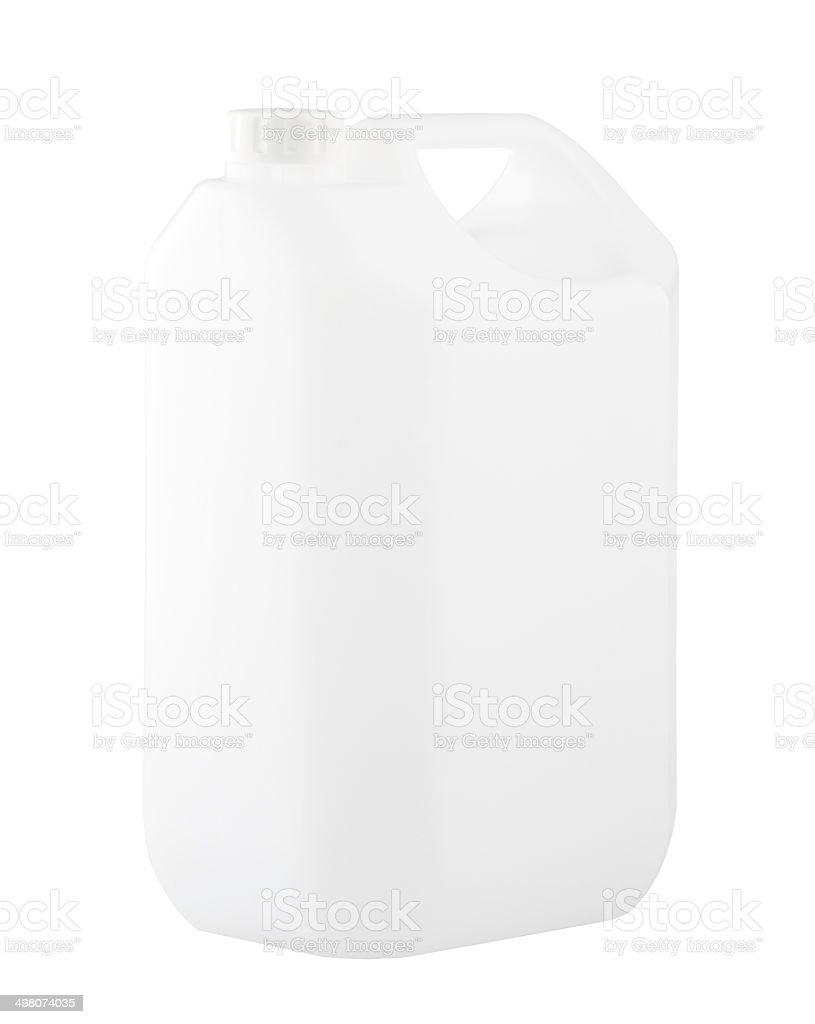 Empty gallon no sign or label isolated stock photo