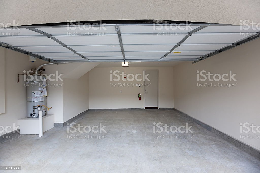 Empty Garage Lookin In stock photo