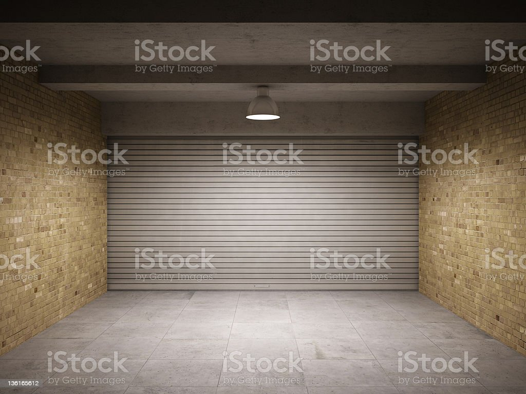 Empty garage royalty-free stock photo