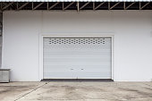 Empty garage with Shutter door or roller door