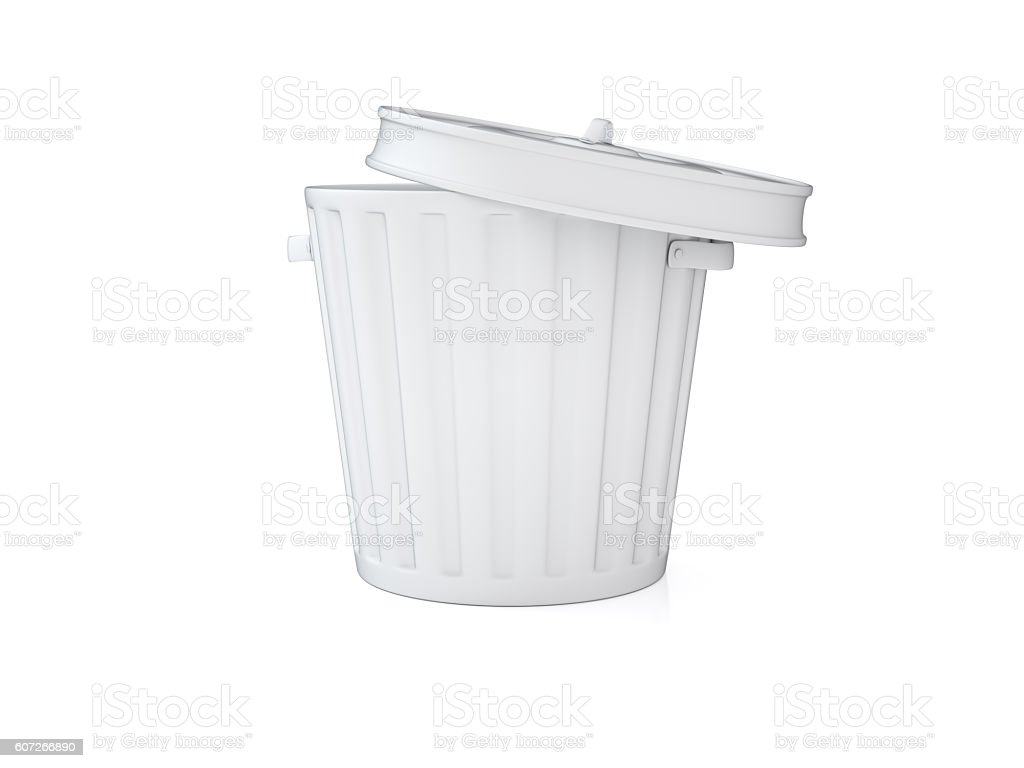 Empty Garbage Can stock photo
