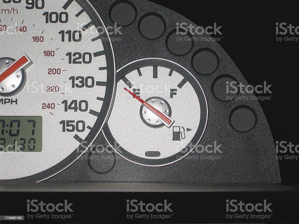 Empty Gas Gauge stock photo