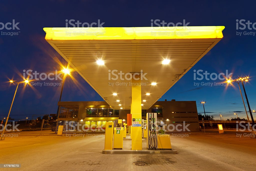 Empty gas station royalty-free stock photo