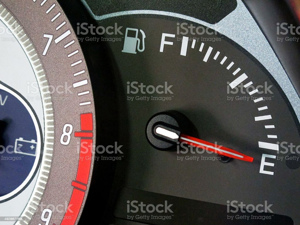 Empty gas tank stock photo