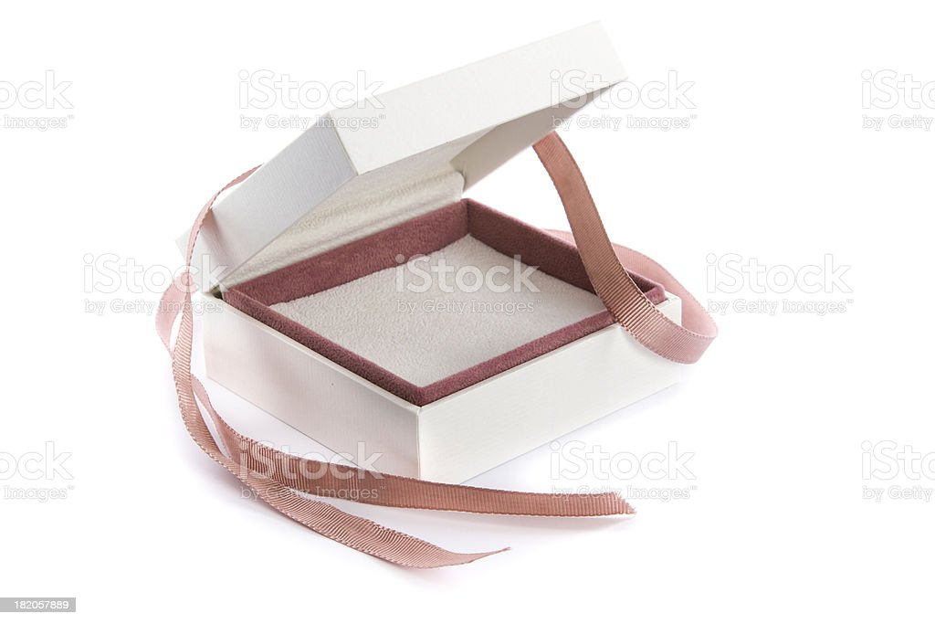 empty gift box stock photo