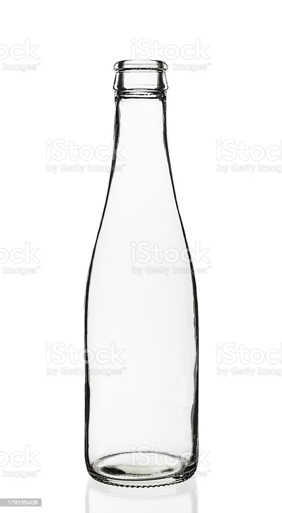 Empty glass bottle royalty-free stock photo