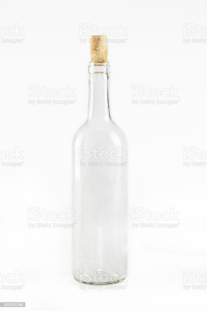 Empty glass bottle stock photo