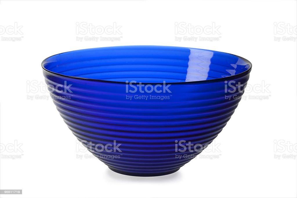 Empty glass bowl stock photo