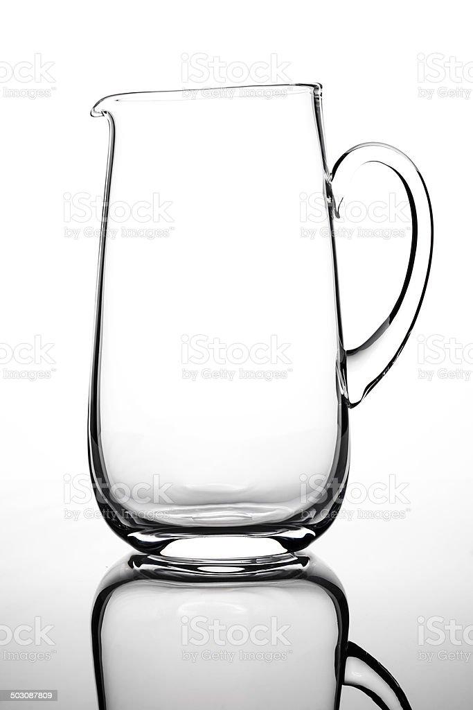 Empty glass carafe stock photo