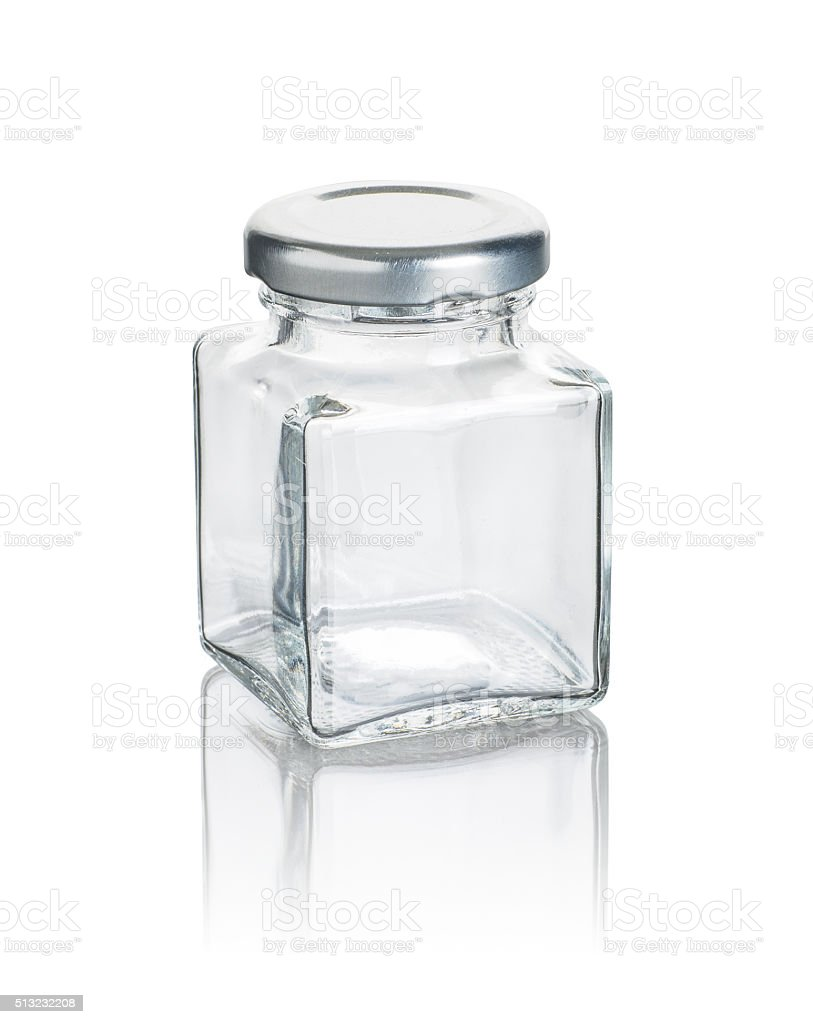 empty glass container stock photo