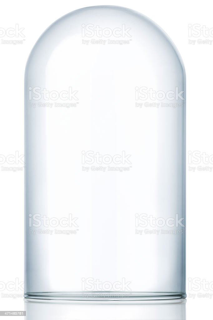 Empty Glass Dome Display Case, Dust Cover royalty-free stock photo