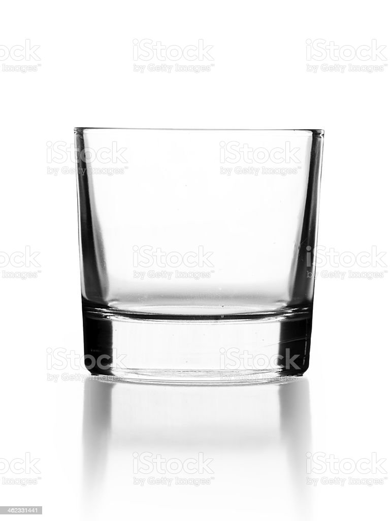 empty glass for cocktail or tequila isolated on white stock photo