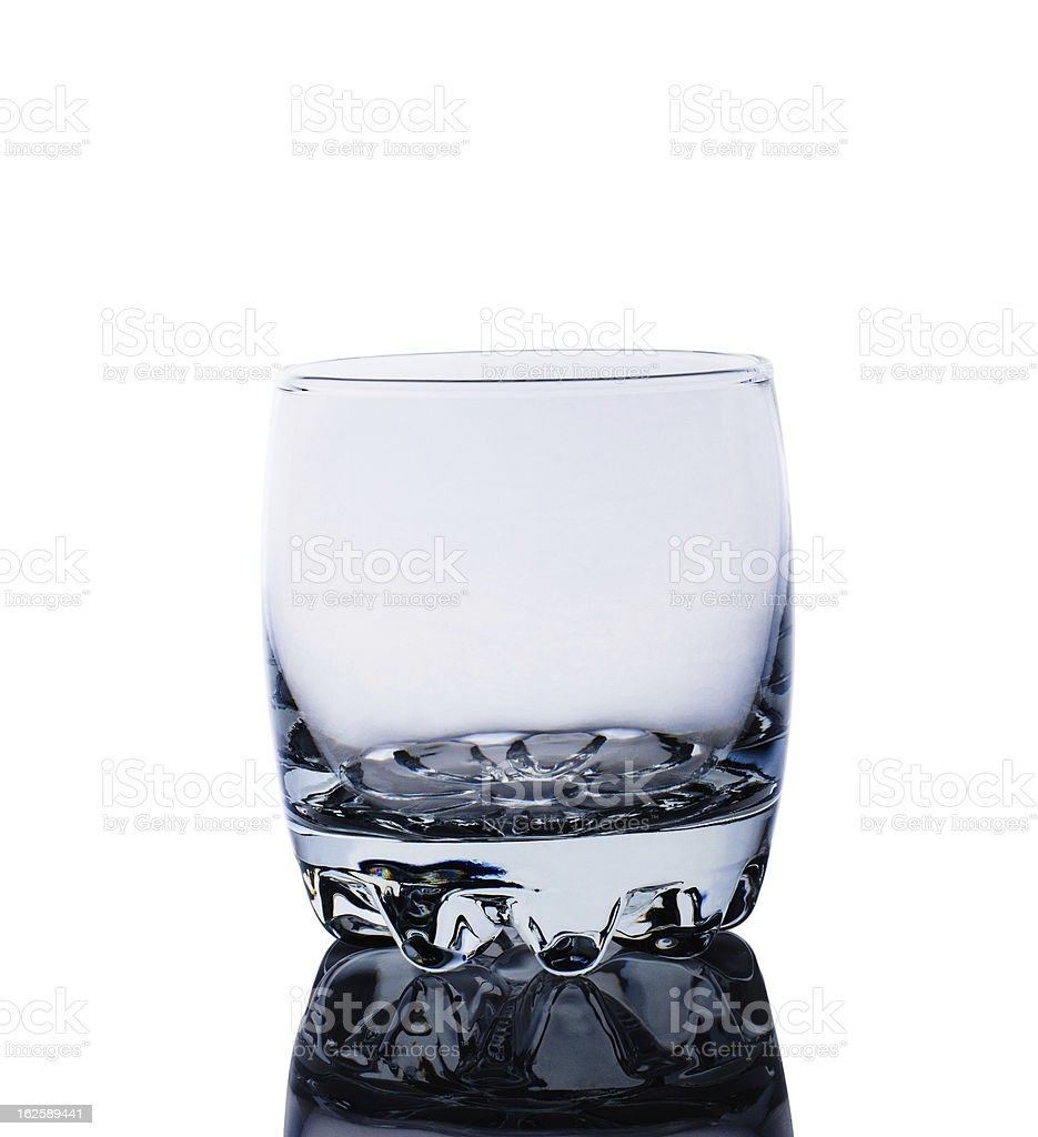 Empty glass for whiskey royalty-free stock photo
