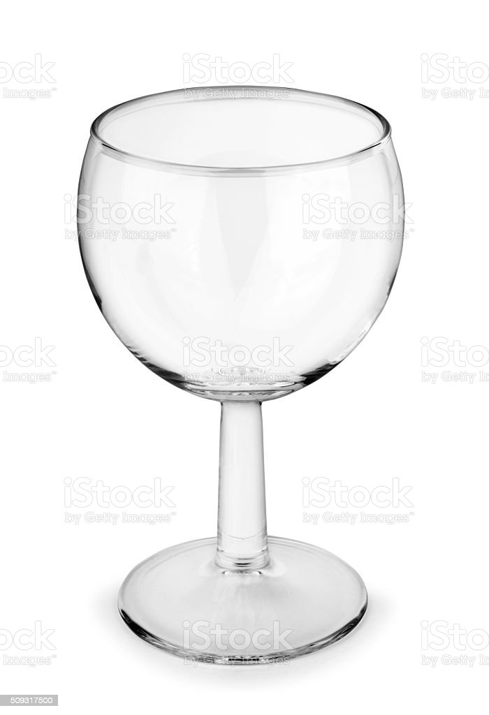 Empty glass isolated on a white stock photo