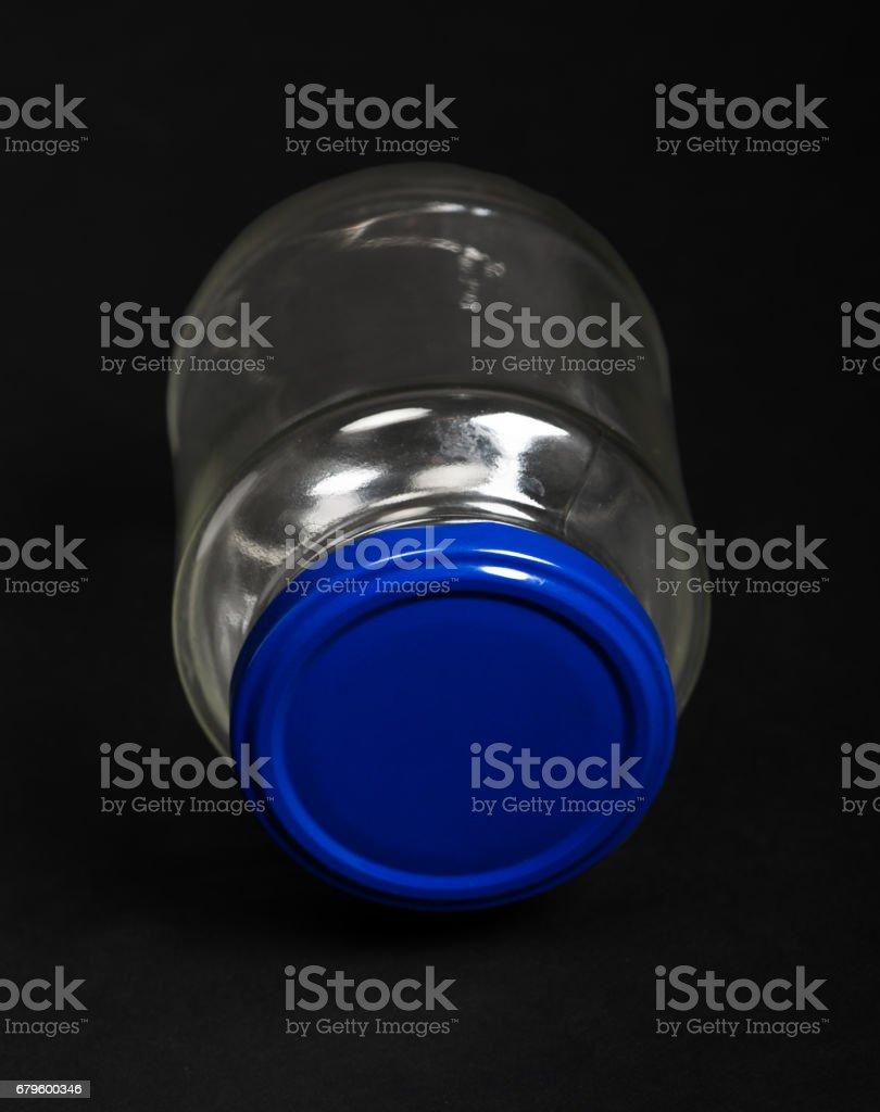 Empty glass jar stock photo
