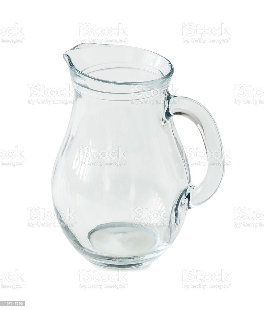 empty glass jug stock photo