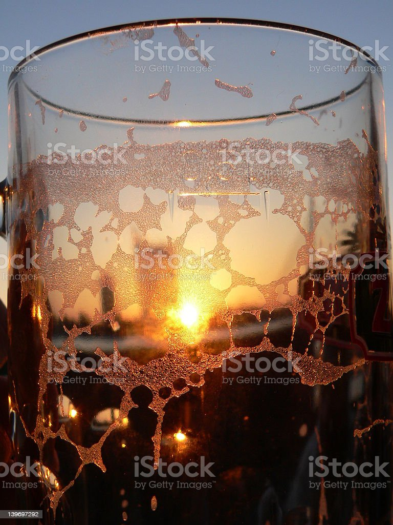 Empty glass of Beer royalty-free stock photo