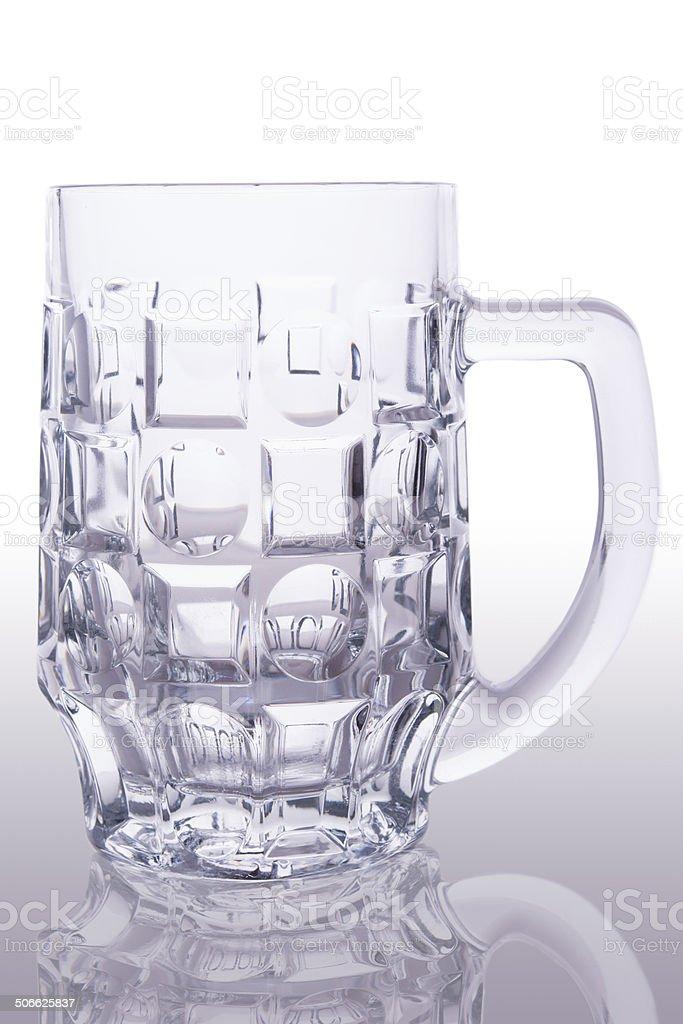 Vazio copo de cerveja foto royalty-free