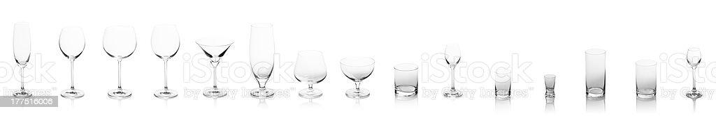 Empty glass royalty-free stock photo