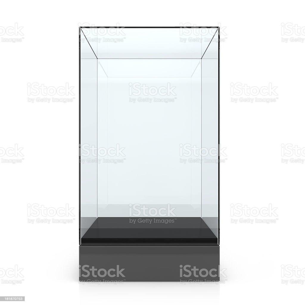 Empty glass showcase royalty-free stock photo