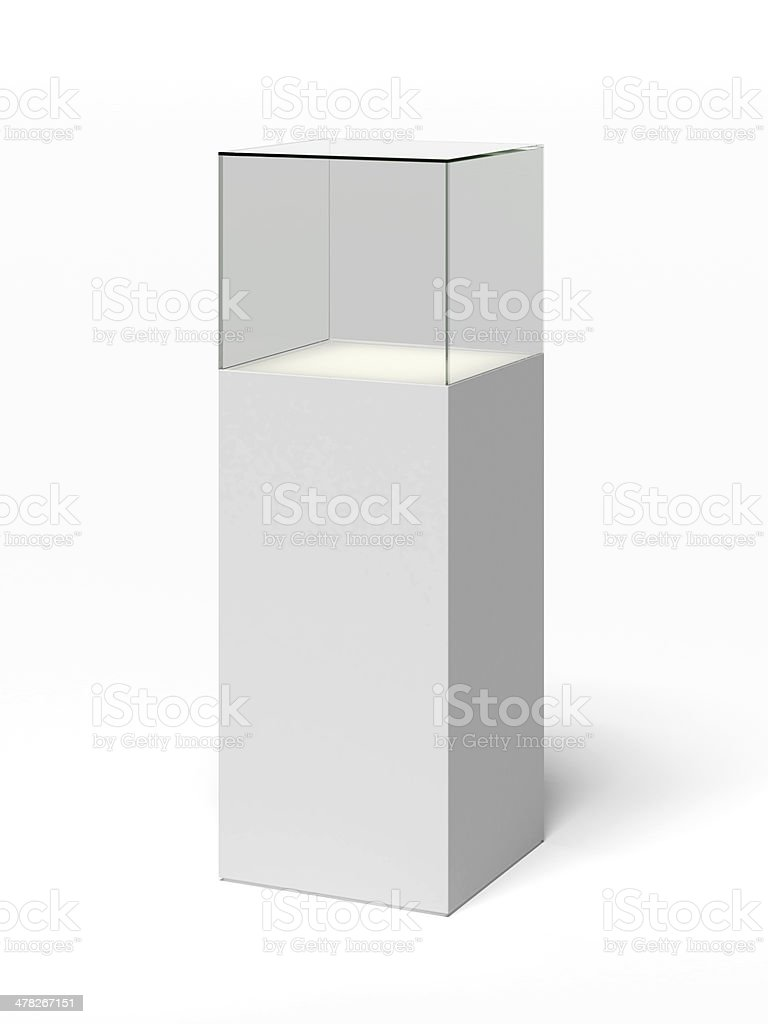 empty glass showcase royalty-free stock photo