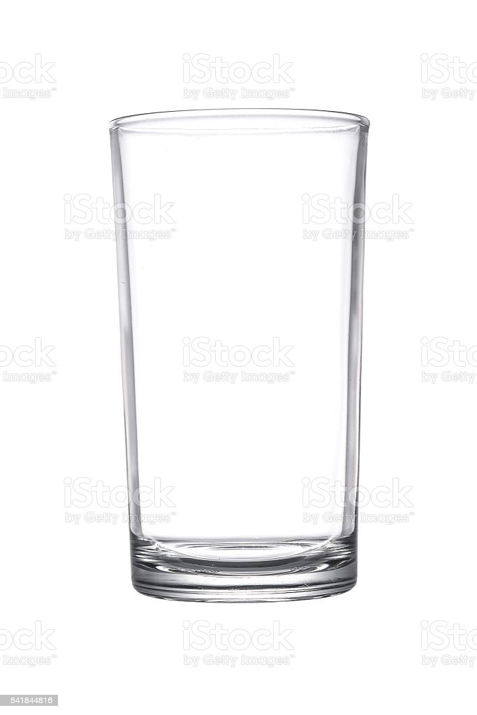 Empty glasses isolated stock photo