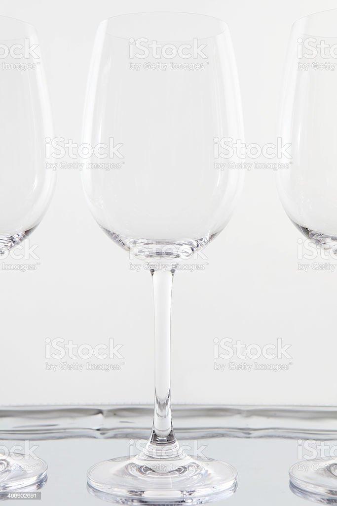 empty glasses royalty-free stock photo