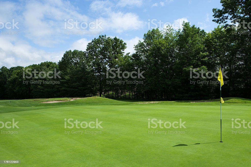 Empty golf course green royalty-free stock photo