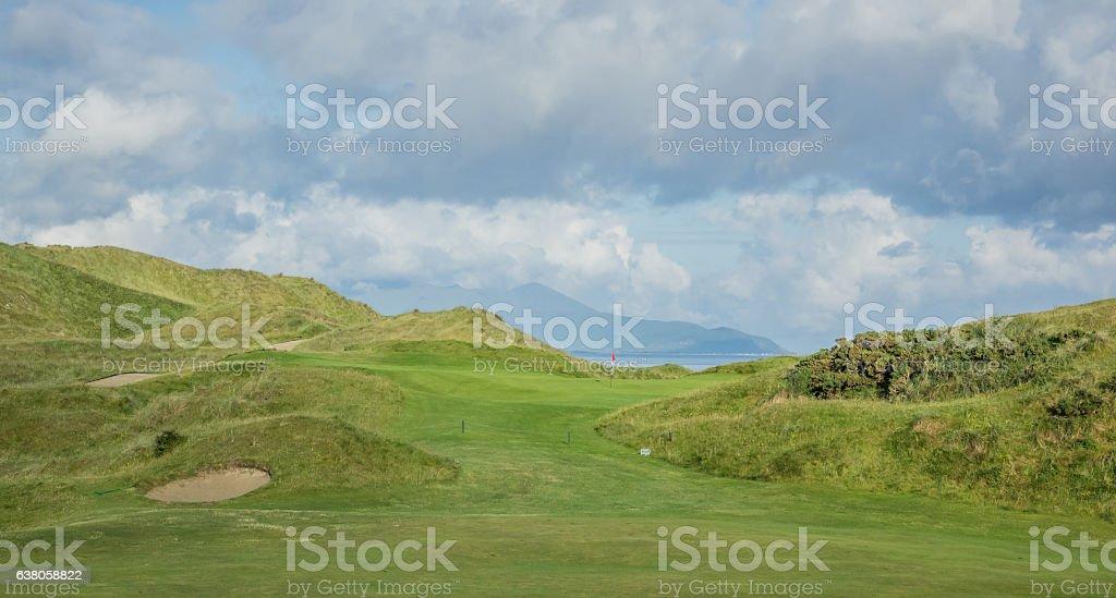 Empty Golf course stock photo