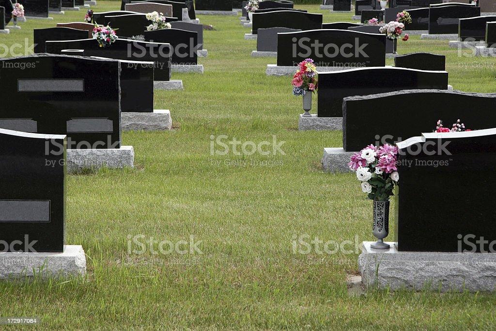 Empty Graves stock photo