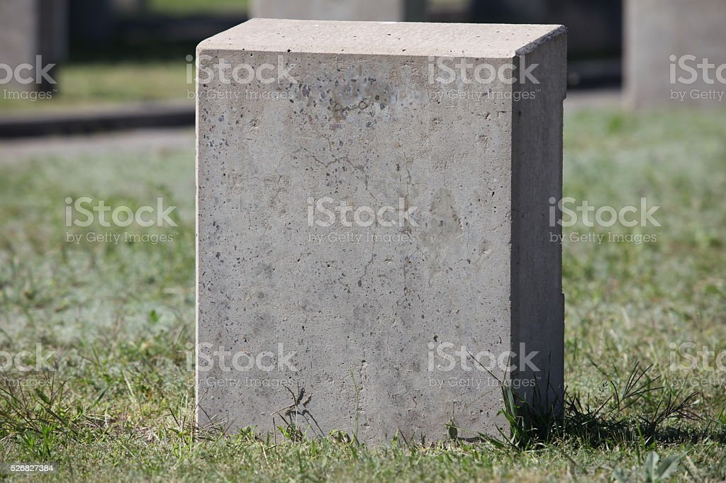empty gravestone unknown soldier stock photo