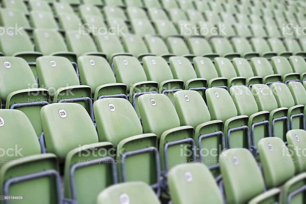 Empty Green Seats stock photo