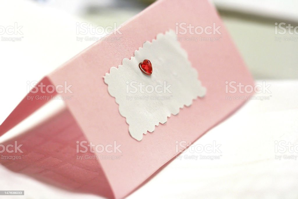 Empty greeting / wedding card with place for a text royalty-free stock photo